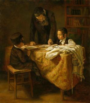 A Rabbi Teaching