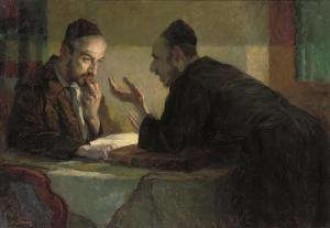 Talmud Study by Lamplight