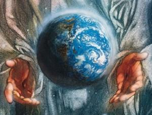God suspending the world