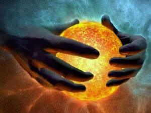 God holds the world