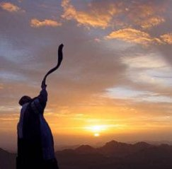 Shofar as sunrise