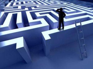 man-on-a-maze