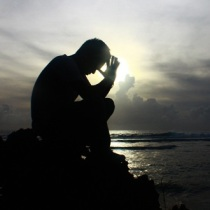 praying alone