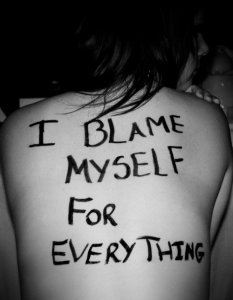 I blame myself