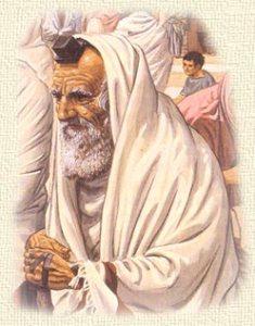 older jewish man praying
