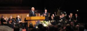 MacArthur in church