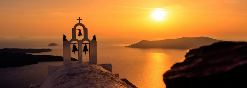 Sunset over Greek Church