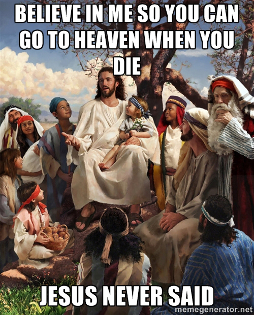 Jesus never said