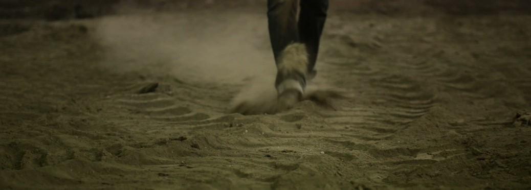 walking in dust