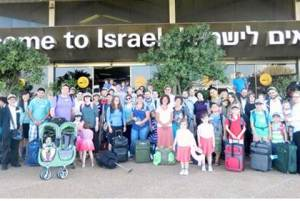 New arrivals at Ben Gurion airport