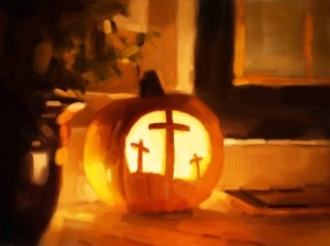 cross pumpkin