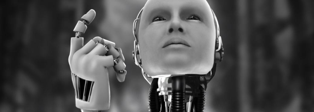 robot contemplating