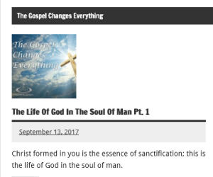 the gospel changes everything
